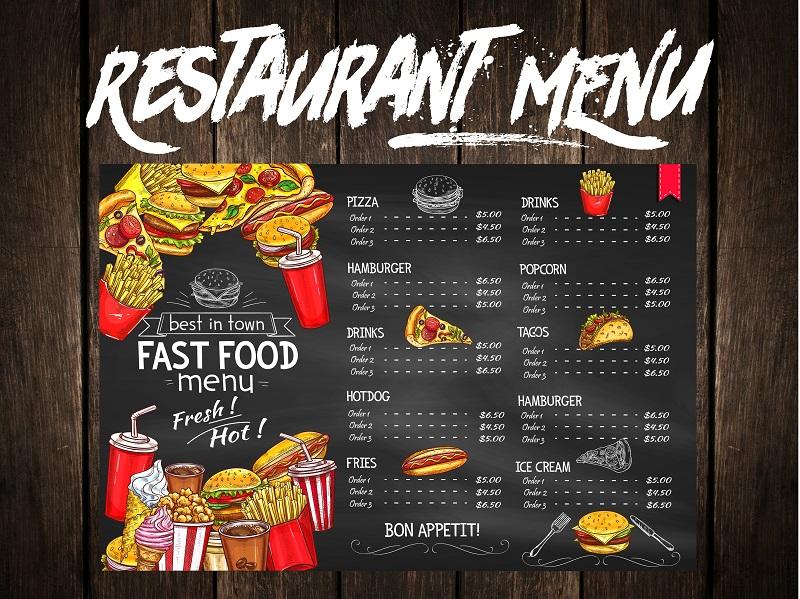 Professional Menu for your Restaurant/Cafe