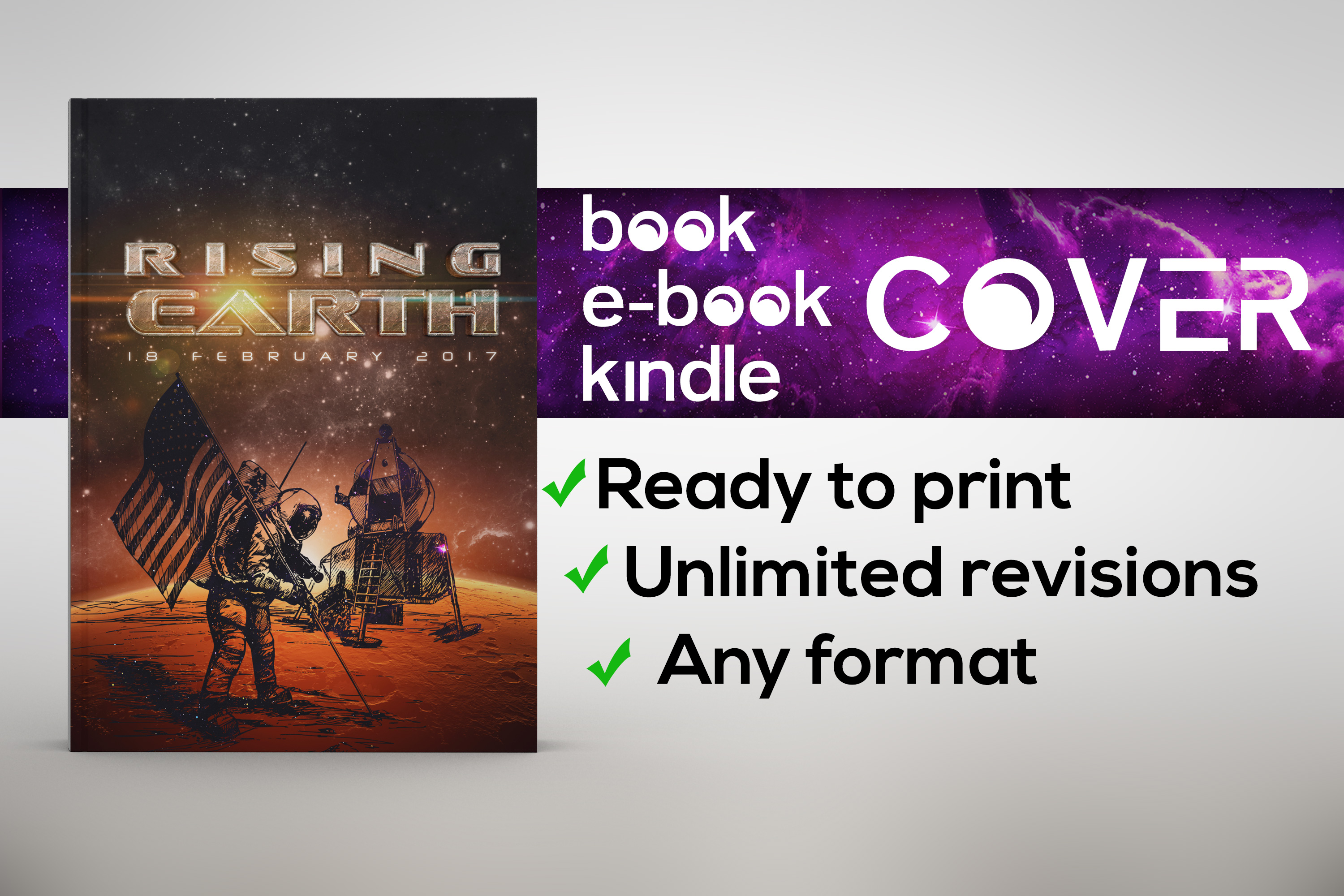 Design Professional eye-catching book, kindle or ebook cover