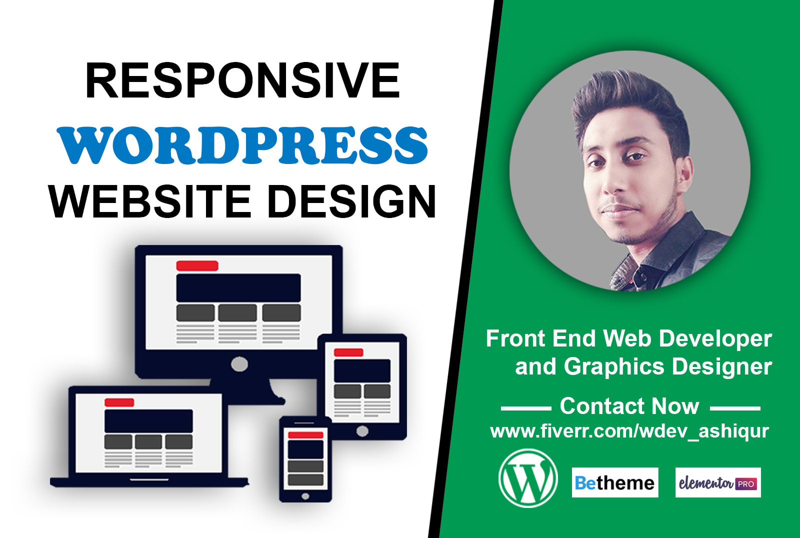 Create Professional Wordpress Website Responsive Custom Design with best servic
