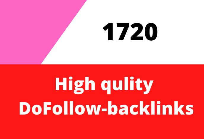 Provide 1720 DoFollow backlinks