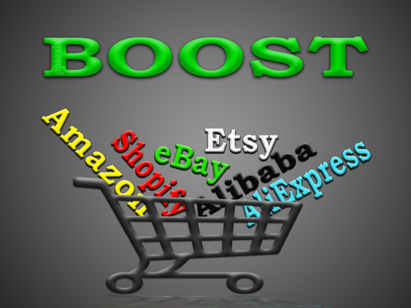 promote Amazon,  eBay,  Etsy,  Alibaba,  AliExpress or any other e-commerce store