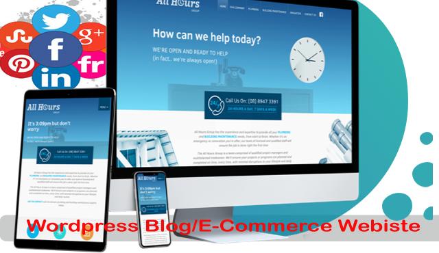 WEBSITE Theme design WordPress, website complete blo...