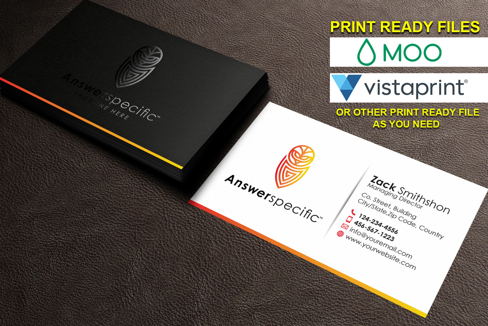 do attractive SPOT UV business card