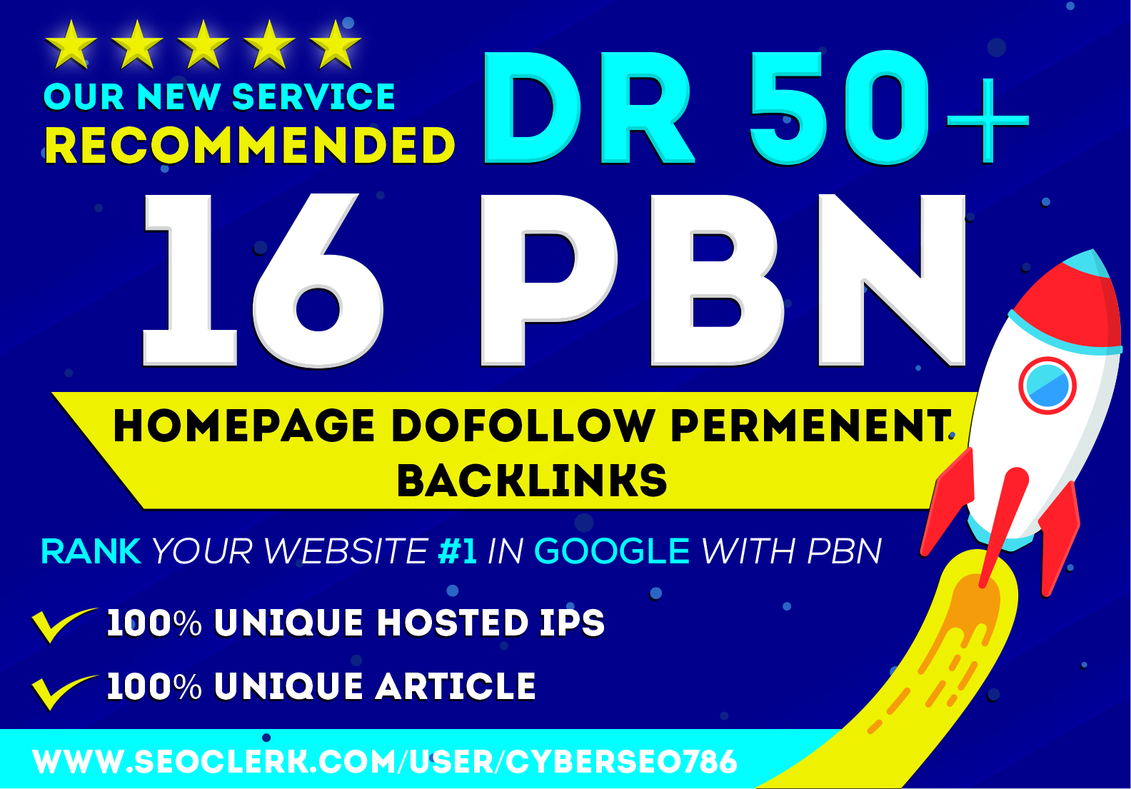 I will provide PBN DR 50 to 70 high quality dofollow backlinks