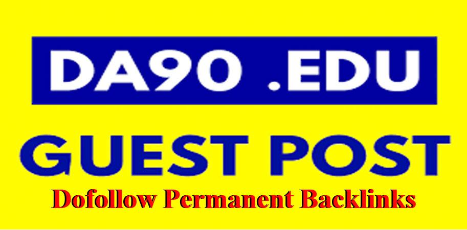 Publish strong DA 90 permanent edu guest post