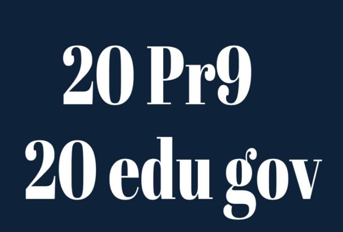 manually create 20 edu and gov pr9 20 dofollow powerful seo friendly backlink