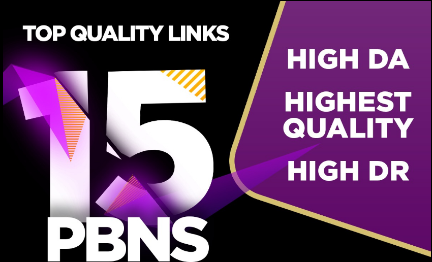 Build 15 PBN DA 50+ With Dofollow & permanent Backlinks