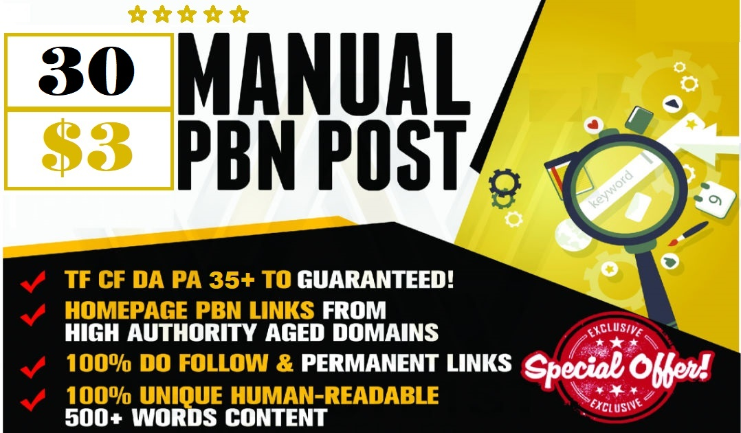 30 website pbn DA 35+ PA 35+ dofollow backlinks google index site