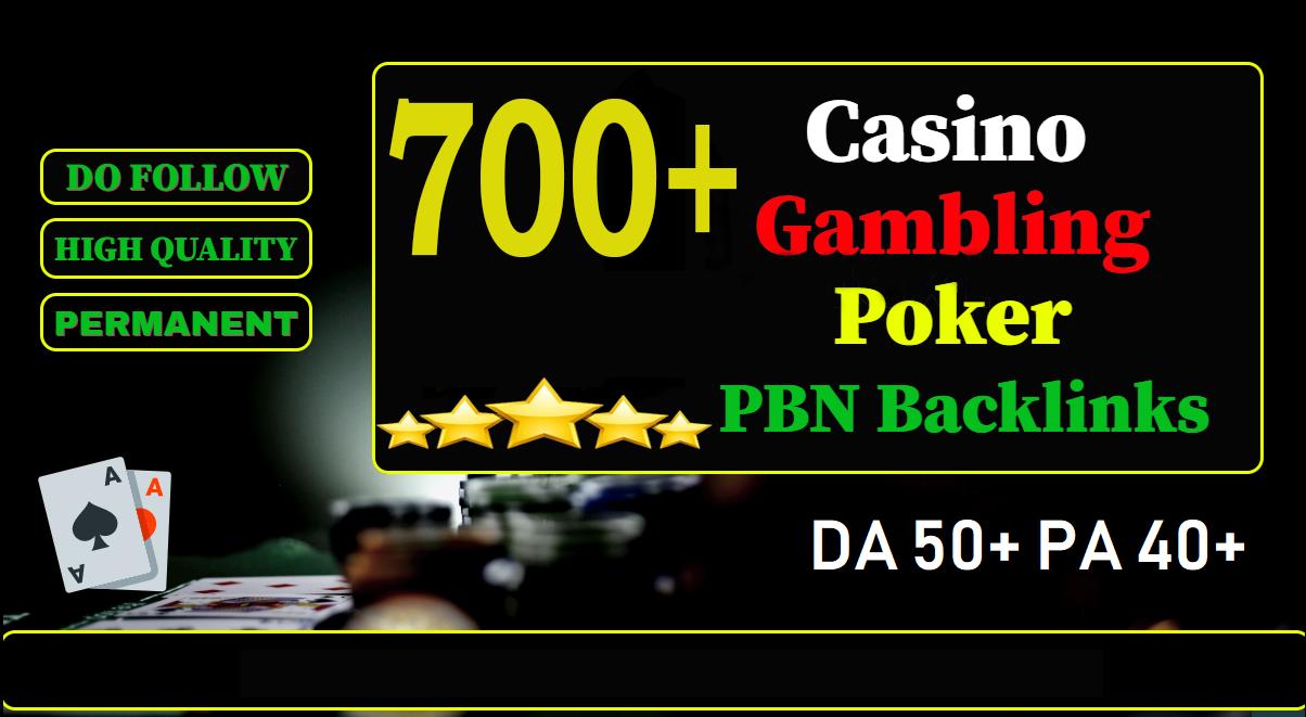 GET 700+ PREMIUM CASINO PBN homepage web 2.0 with DA 50+ PA 40+ 500+ Words Article