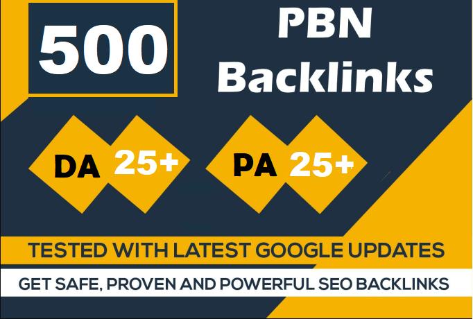 500 website pbn Dofollow Backlinks DA 20+ PA 20+ Google Index Site