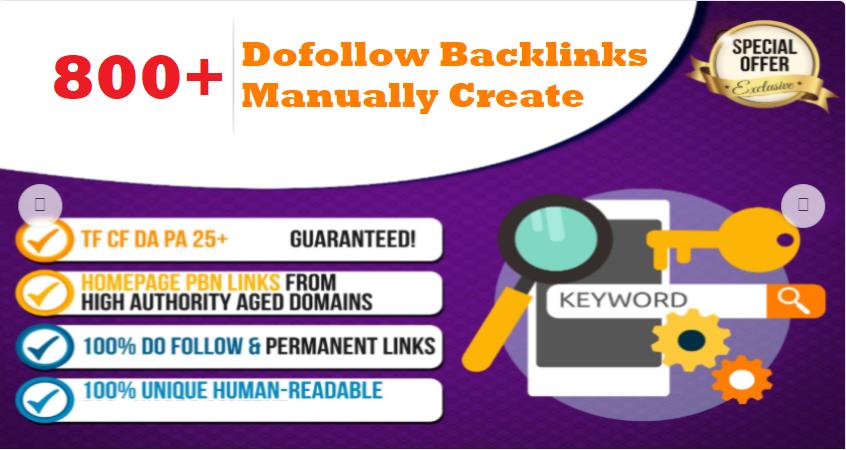 Manually Create 800 Dofollow Backlinks