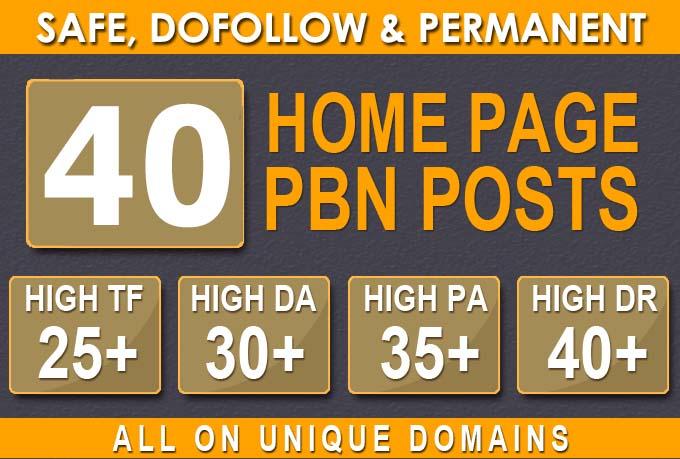 40 HIGH TRUST FLOW HOMEPAGE Web2 PBN DOFOLLOW BACKLINKS