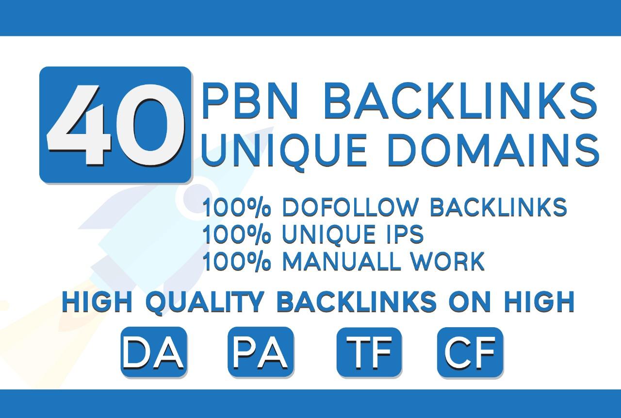 I Will Provided 40 Web 2.0 PBN Backlinks Unique Domains Dofollow Backlinks
