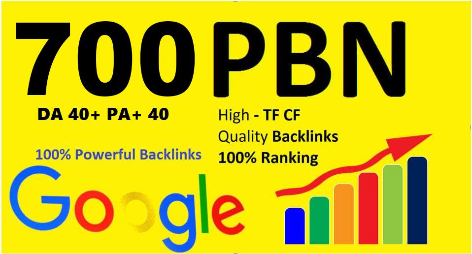 Extreme powerful DA 40+ PA 35+ pr 5+ web 2.0 700 PBN UNIQUE 700 sites