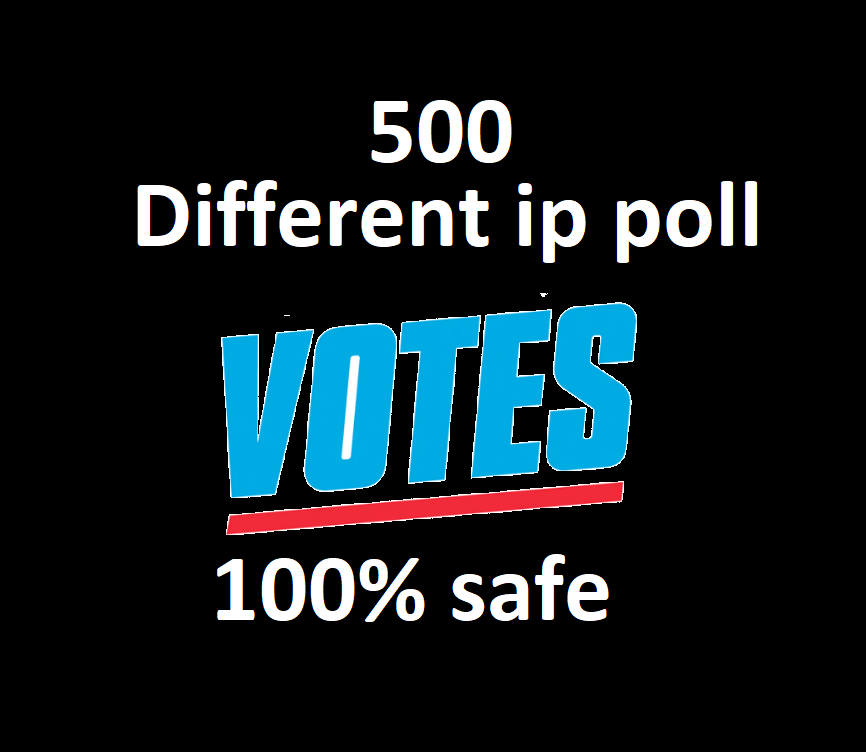 Forever 500 Different IP votes contest that must be one click action
