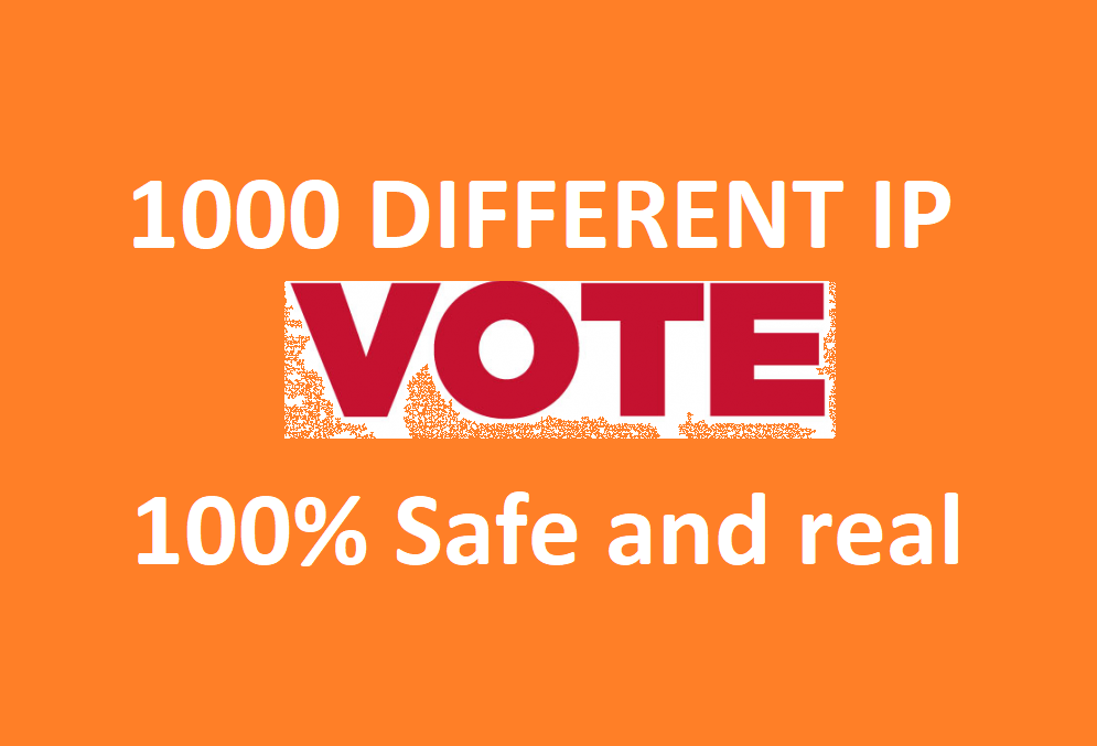 Get forever 1000 Different IP votes contest that must be one click action