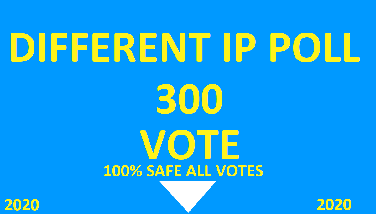 Get offer you 300 Different IP votes contest that you are participating