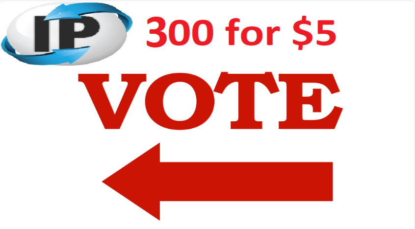 Get you 300 Different ip votes on your online poll voting contest