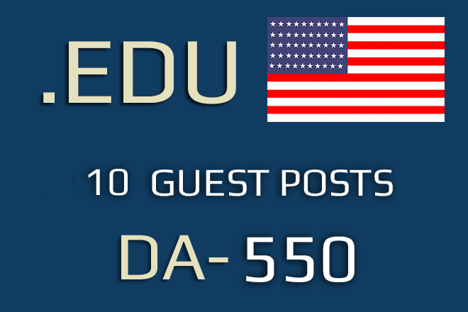 10. EDU Guest Posts. USA. Premium Offer