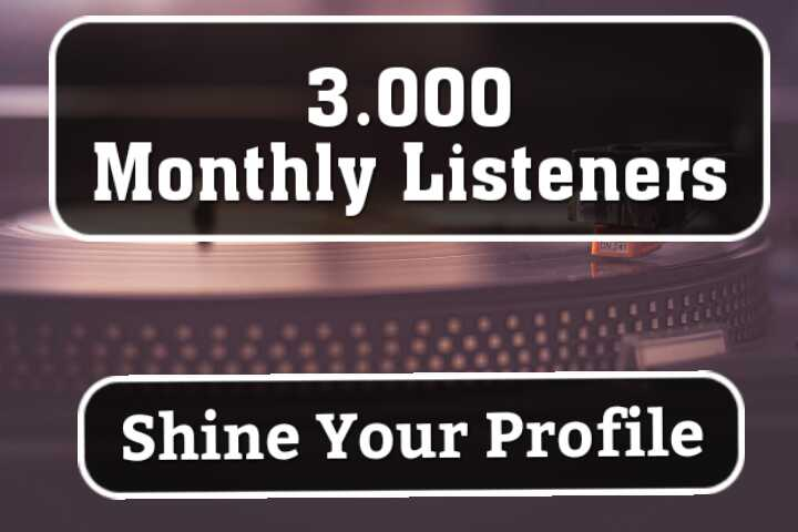 Get Amazing 3,000 Monthly Listeners For Artist Profile ranking -