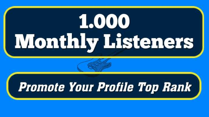 SUPER FAST- 1000+ Monthly Listeners For Your Artist Profile Promotion