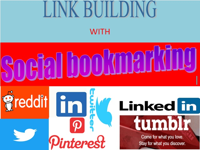 Link building with social bookmarking sites.