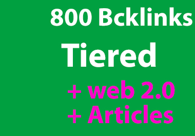 800 Tiers SEO contextual backlinks