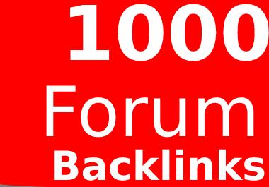 Get 1000 Forums Profile Backlinks