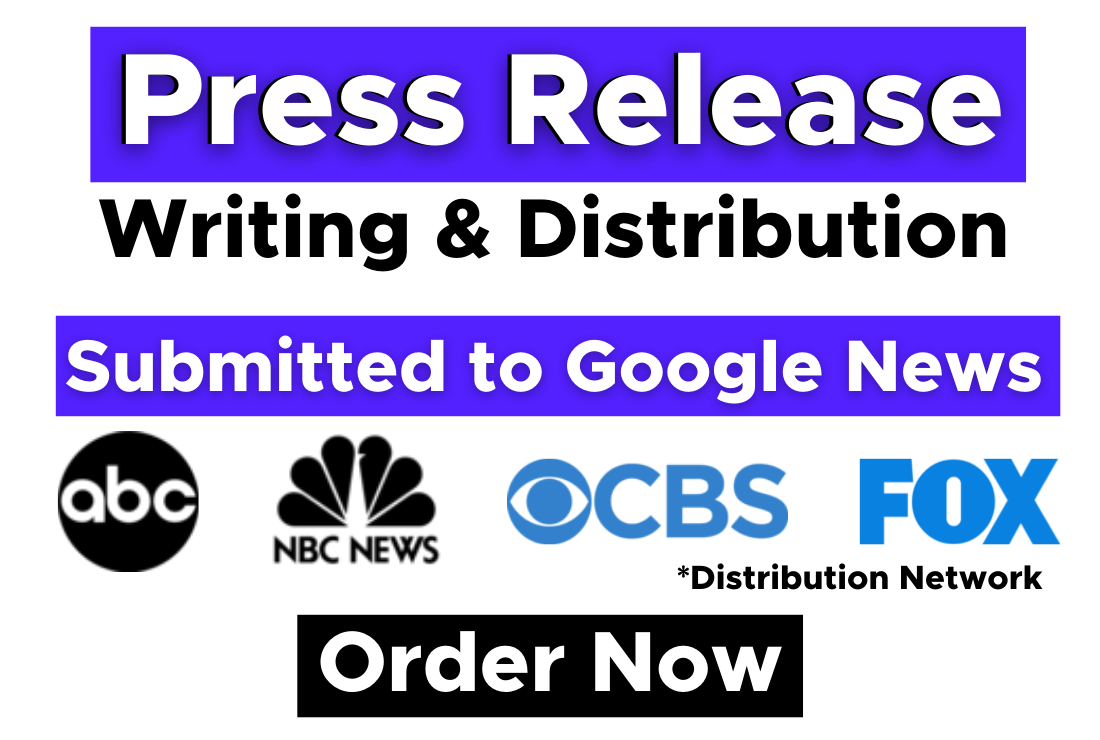 Write and Press Release distribution on FOX,  CBS,  ABC,  NBC and 300+Sites