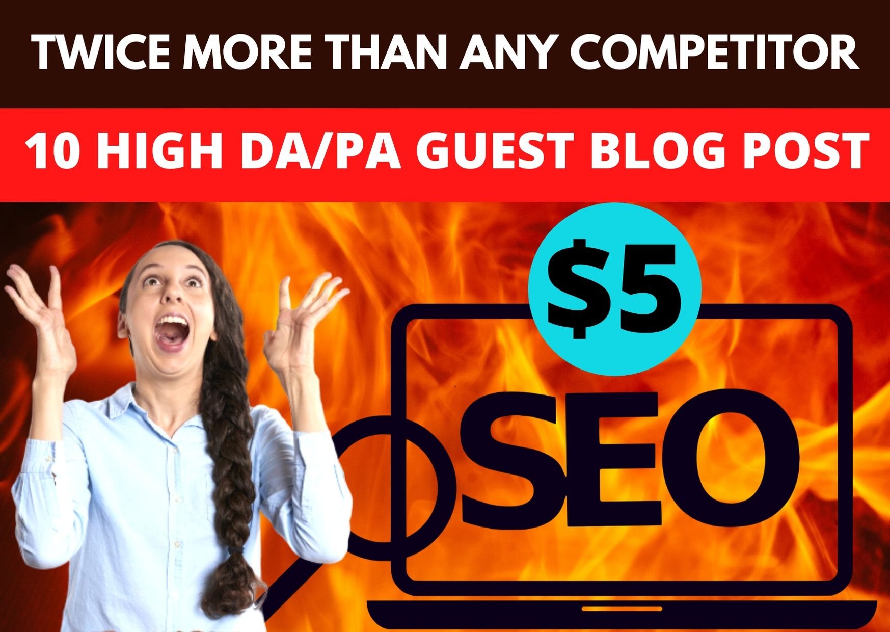 I will write & Published 10 unique guest post backlinks on high DA PA sites