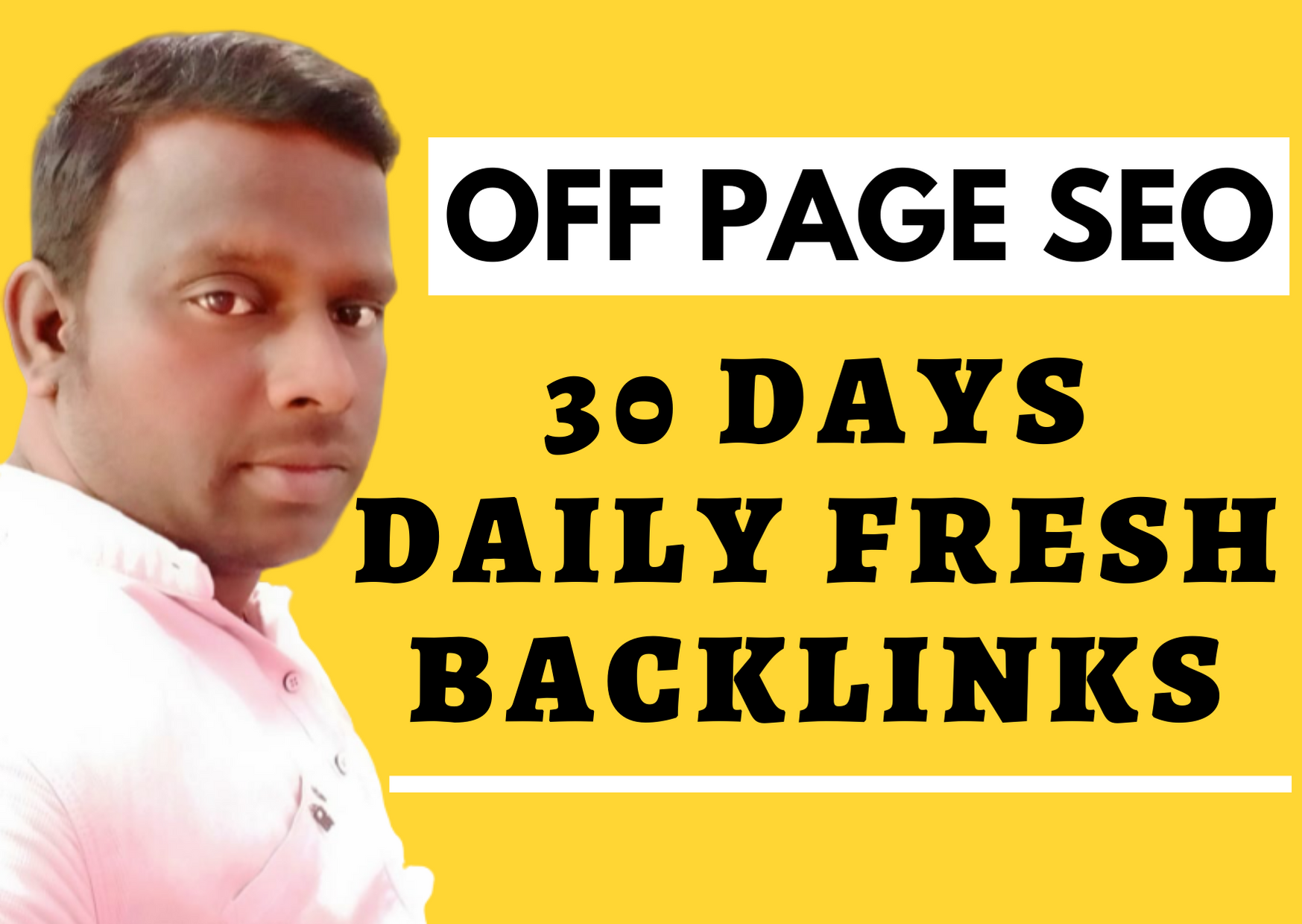 30 days daily fresh white Hat off page SEO backlinks for boost website ranking