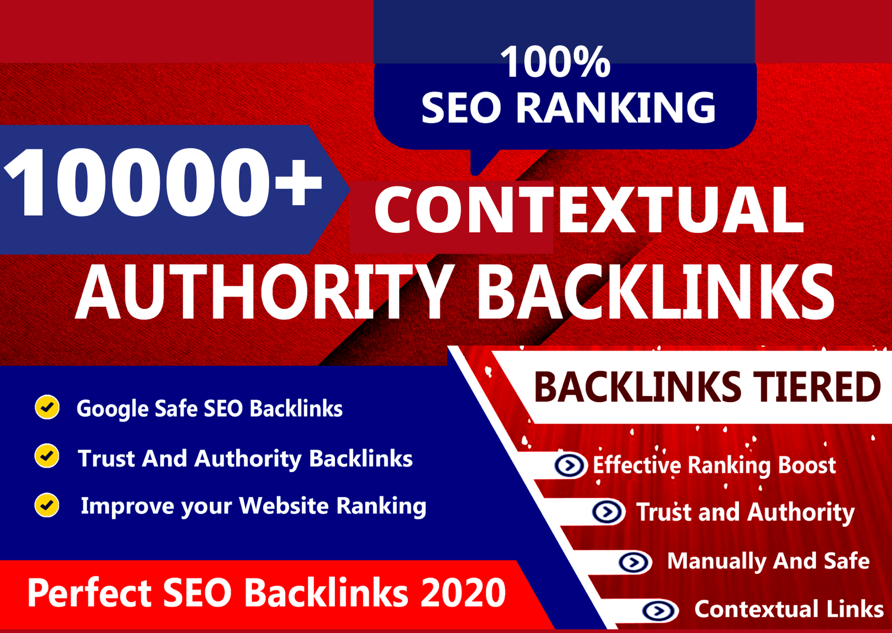 10,000 + CONTEXTUAL BACKLINKS for off page SEO WITH TIER 1 & TIER 2