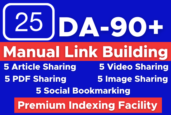 Manually Build 25 white hat SEO backlinks,  manual link building
