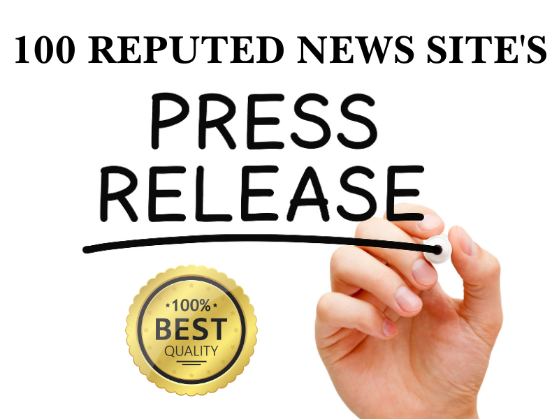 100 High Quality Press Release Distribution on Major News Channel