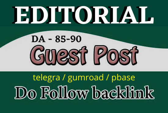 Write and published 3 High DA Dofollow Guest post backlinks,  Off page SEO Service