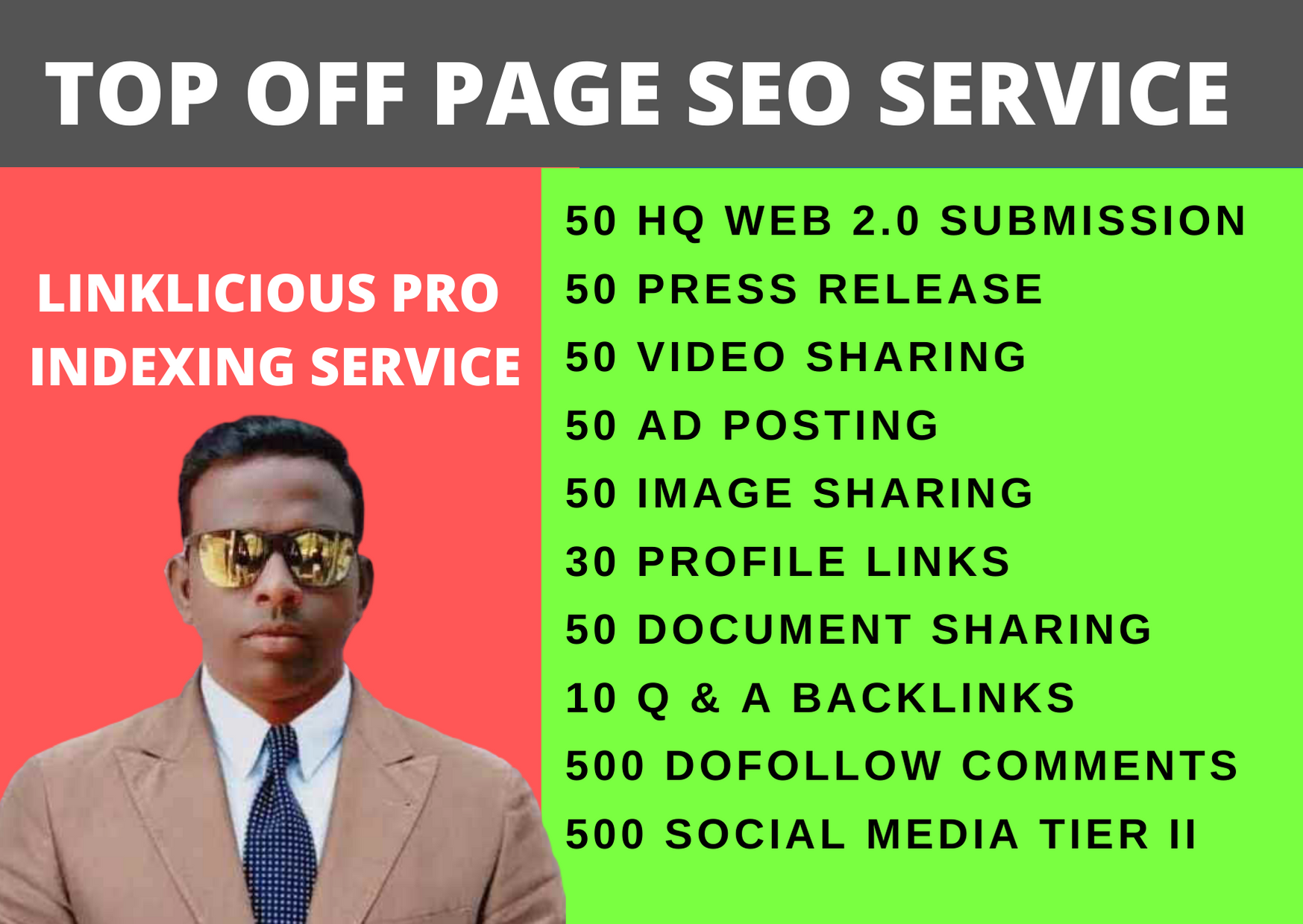 Manually Create High DA off page SEO Backlinks for your website