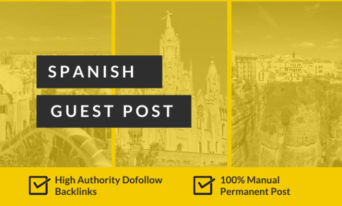 Backlinks in guest post in Spanish High DA PA DR