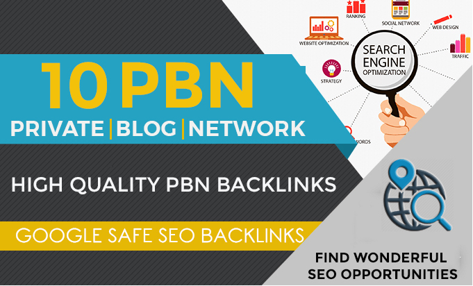 Build 10 PBN Backlinks - High Quality Private Blog Network Links