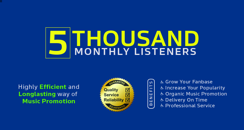 Music Promotion with 5000 Monthly Listener for Artist