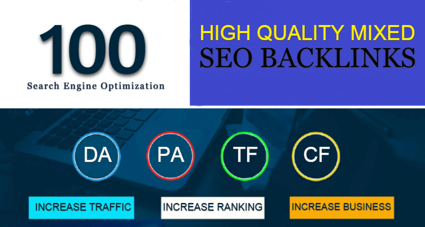 Do 100 Mixed Backlinks From High Quality sites