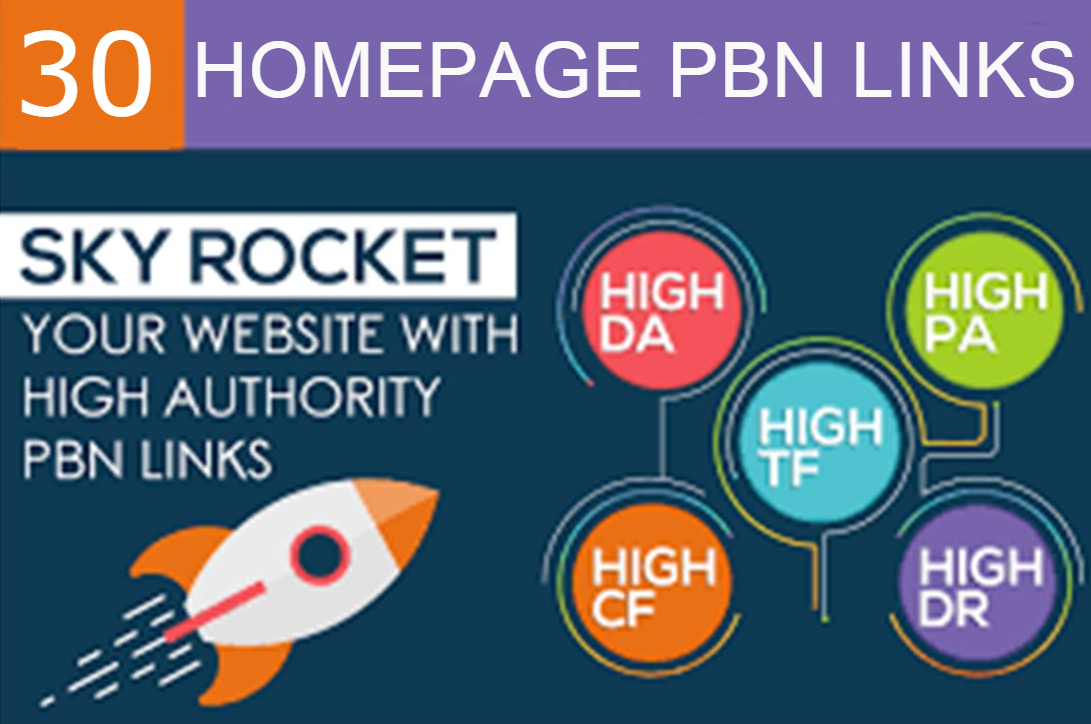 Do Manualy 30 High Quality Homepage Pbn backlinks DA/PA/Tf/Cf 20+