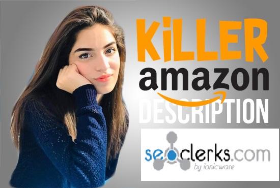 Killer Amazon Descriptions and Listings