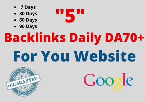 Work Daily - 5 Backlinks Daily HIGH PR9 Domaine Authority 70+ 1000 Unique Article 7 Days
