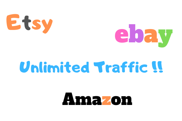 Unlimited Traffic For Ebay Products Amazon Etsy Shopify Etc Within 3 days