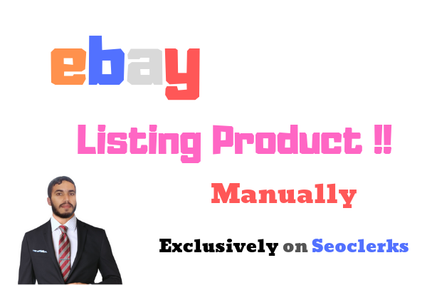 100 Product Ebay Listing Manually