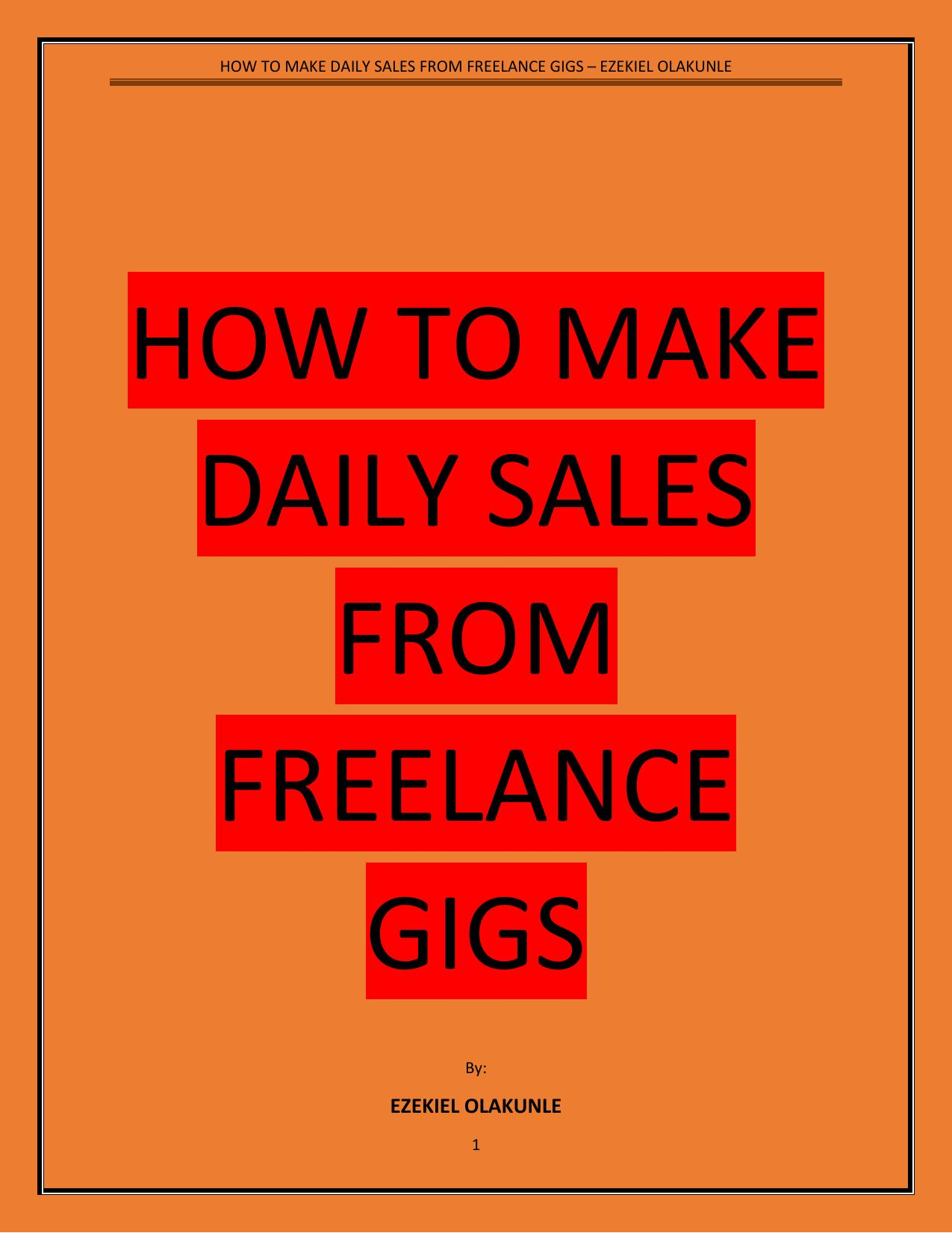 How rank your freelance service to first page and start making sales daily