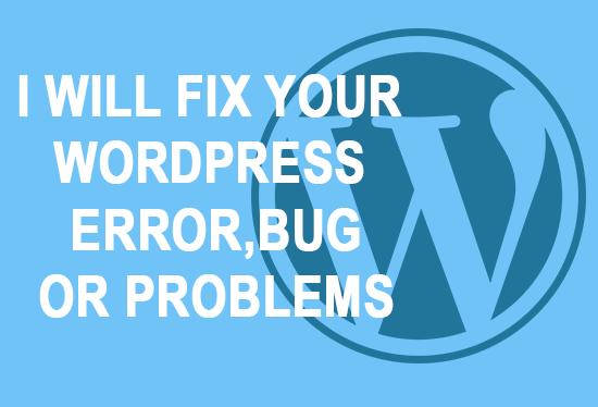 FIX YOUR WORDPRESS ERROR OR BUG