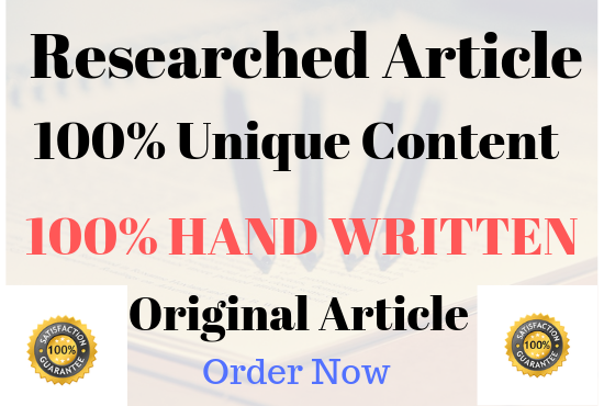 1000 Words SEO optimised well researched article For You