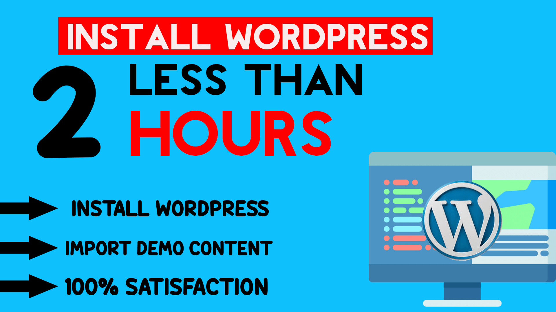Install Wordpress And Premium Theme With In An Hour f...