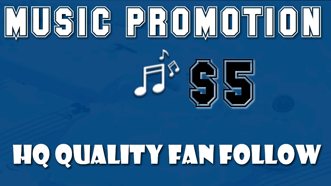 Get HQ Music Fan for your Artis Profile